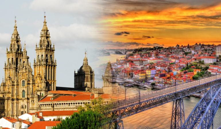How to get from Santiago de Compostela to Porto
